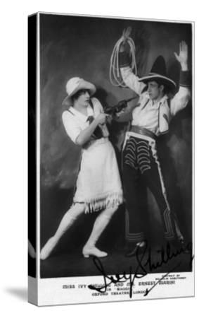 Miss Ivy Shilling and Mr Ernest Marini in Maggie-Lantern Press-Stretched Canvas Print