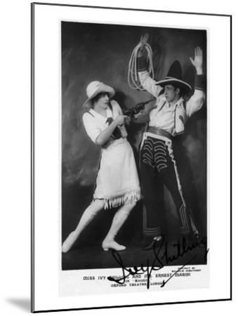 Miss Ivy Shilling and Mr Ernest Marini in Maggie-Lantern Press-Mounted Art Print