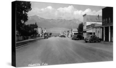 Westcliff, Colorado - Street Scene-Lantern Press-Stretched Canvas Print