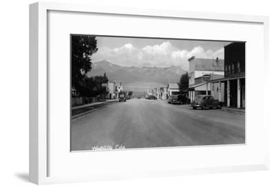 Westcliff, Colorado - Street Scene-Lantern Press-Framed Art Print
