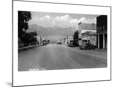 Westcliff, Colorado - Street Scene-Lantern Press-Mounted Art Print