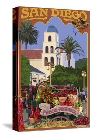 San Diego, California - Old Town-Lantern Press-Stretched Canvas Print