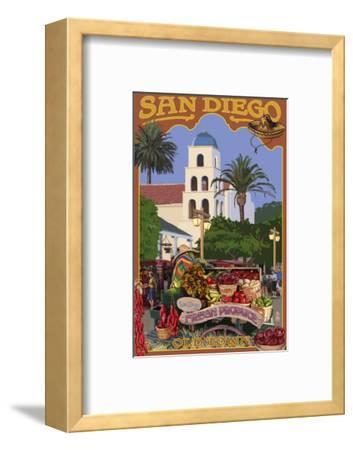 San Diego, California - Old Town-Lantern Press-Framed Art Print