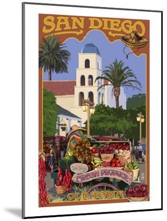 San Diego, California - Old Town-Lantern Press-Mounted Art Print