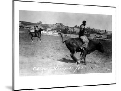Calgary, Canada - Bullriding at the Stampede-Lantern Press-Mounted Art Print