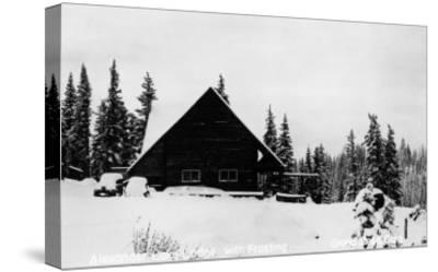 Grand Mesa, Colorado - Alexander Lake Lodge-Lantern Press-Stretched Canvas Print