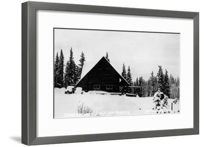 Grand Mesa, Colorado - Alexander Lake Lodge-Lantern Press-Framed Art Print