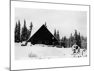 Grand Mesa, Colorado - Alexander Lake Lodge-Lantern Press-Mounted Art Print
