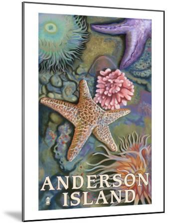 Anderson Island, WA Tidepools-Lantern Press-Mounted Art Print
