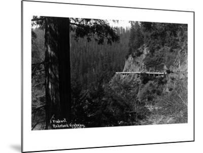 California - Viaduct along the Redwood Highway-Lantern Press-Mounted Art Print