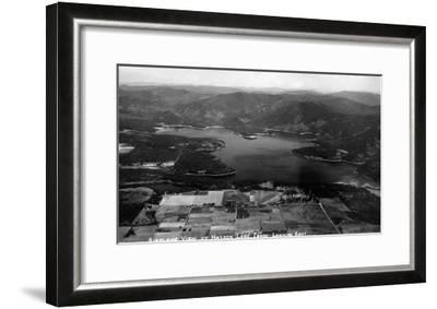Idaho - Hayden Lake Aerial-Lantern Press-Framed Art Print