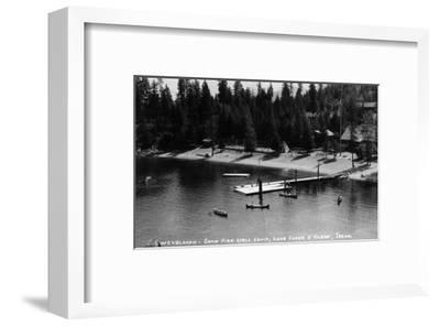 Idaho - Lake Coeur d'Alene; Camp Sweyolakan-Lantern Press-Framed Art Print