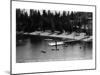 Idaho - Lake Coeur d'Alene; Camp Sweyolakan-Lantern Press-Mounted Art Print