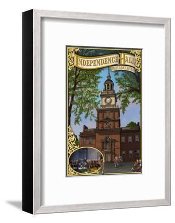 Independence Hall - Philadelphia, Pennsylvania-Lantern Press-Framed Art Print