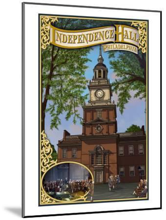 Independence Hall - Philadelphia, Pennsylvania-Lantern Press-Mounted Art Print