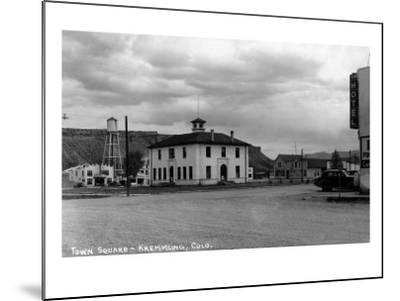 Kremmling, Colorado - Town Square-Lantern Press-Mounted Art Print