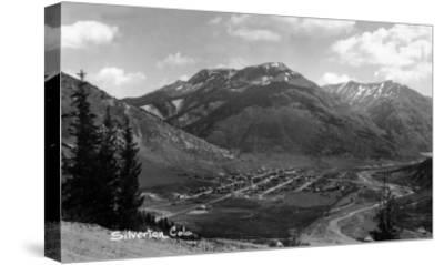 Silverton, Colorado - Aerial View of Town-Lantern Press-Stretched Canvas Print