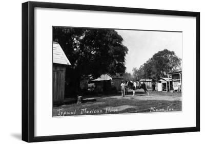 Mission, Texas - Typical Mexican Home-Lantern Press-Framed Art Print