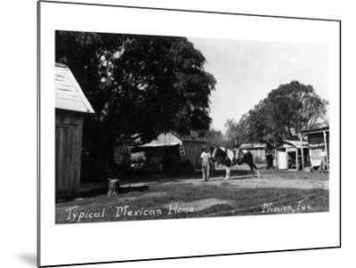 Mission, Texas - Typical Mexican Home-Lantern Press-Mounted Art Print