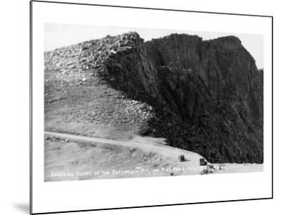 Colorado Springs, Colorado - Pikes Peak Hwy; Cliffs of the Bottomless Pit-Lantern Press-Mounted Art Print
