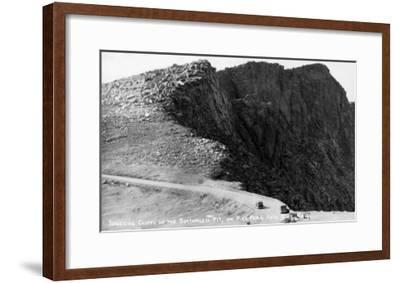 Colorado Springs, Colorado - Pikes Peak Hwy; Cliffs of the Bottomless Pit-Lantern Press-Framed Art Print