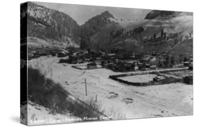 Creede, Colorado - Panoramic View of Town-Lantern Press-Stretched Canvas Print
