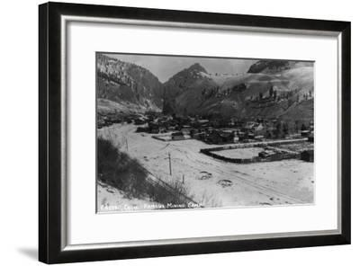 Creede, Colorado - Panoramic View of Town-Lantern Press-Framed Art Print