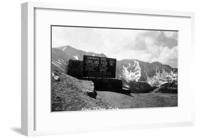 Colorado - Continental Divide at Loveland Pass near Dillon-Lantern Press-Framed Art Print