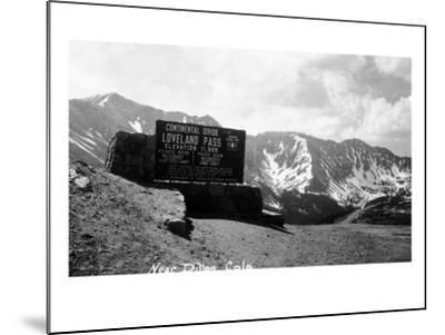 Colorado - Continental Divide at Loveland Pass near Dillon-Lantern Press-Mounted Art Print