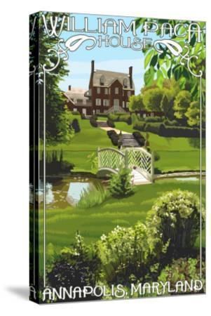 William Paca House - Annapolis, Maryland-Lantern Press-Stretched Canvas Print