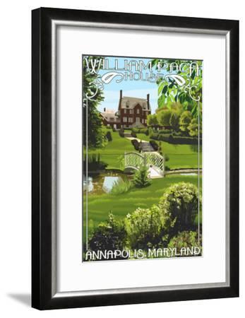 William Paca House - Annapolis, Maryland-Lantern Press-Framed Art Print