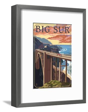 Bixby Bridge - California Coast-Lantern Press-Framed Art Print