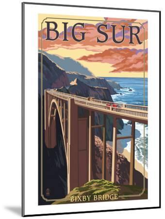 Bixby Bridge - California Coast-Lantern Press-Mounted Art Print