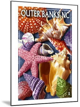 Outer Banks, North Carolina - Shells-Lantern Press-Mounted Art Print