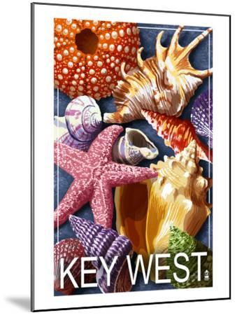 Key West, Florida - Shells-Lantern Press-Mounted Art Print