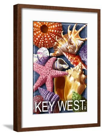 Key West, Florida - Shells-Lantern Press-Framed Art Print