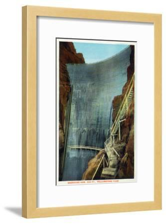 Yellowstone Nat'l Park, Wyoming - Shoshone Dam-Lantern Press-Framed Art Print