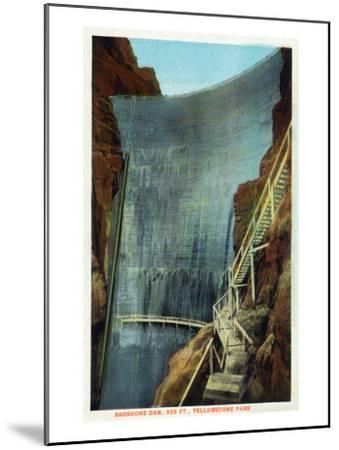 Yellowstone Nat'l Park, Wyoming - Shoshone Dam-Lantern Press-Mounted Art Print