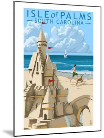 Isle of Palms, South Carolina - Sandcastle-Lantern Press-Mounted Art Print
