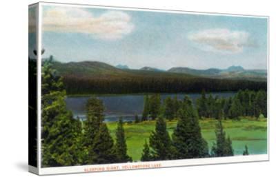 Yellowstone Nat'l Park, Wyoming - Sleeping Giant Scene-Lantern Press-Stretched Canvas Print