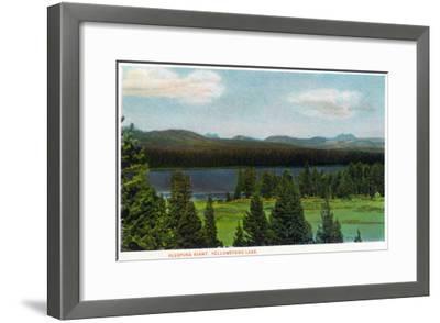 Yellowstone Nat'l Park, Wyoming - Sleeping Giant Scene-Lantern Press-Framed Art Print