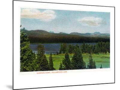 Yellowstone Nat'l Park, Wyoming - Sleeping Giant Scene-Lantern Press-Mounted Art Print