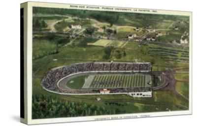 La Fayette, Indiana - Purdue University; Aerial of Ross-Ade Stadium-Lantern Press-Stretched Canvas Print