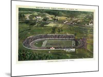 La Fayette, Indiana - Purdue University; Aerial of Ross-Ade Stadium-Lantern Press-Mounted Art Print