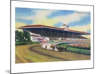 Arlington Heights, Illinois - Horse Race at Arlington Race Track-Lantern Press-Mounted Art Print