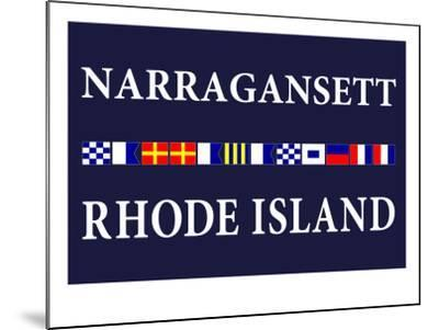 Narragansett, Rhode Island - Nautical Flags-Lantern Press-Mounted Art Print