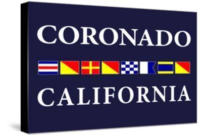 Coronado, California - Nautical Flags-Lantern Press-Stretched Canvas Print