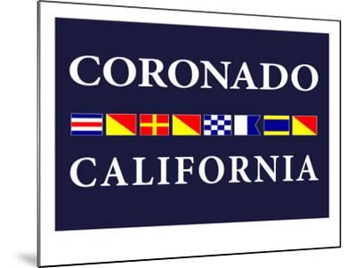 Coronado, California - Nautical Flags-Lantern Press-Mounted Art Print