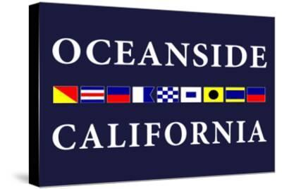 Oceanside, California - Nautical Flags-Lantern Press-Stretched Canvas Print