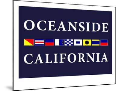 Oceanside, California - Nautical Flags-Lantern Press-Mounted Art Print
